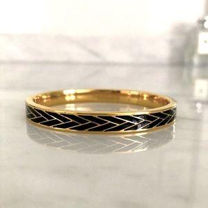 JCrew rare gold and black enamel bracelet